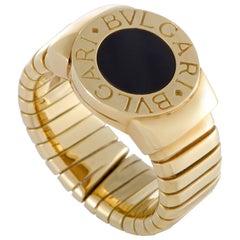 Bvlgari Bulgari Bvlgari 18 Karat Yellow Gold Onyx Tubogas Ring