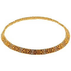 Bvlgari Bulgari Parentesi Gold Diamond Necklace