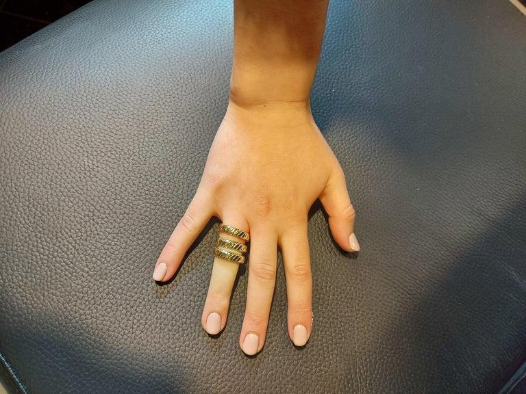 Bvlgari Bulgari Tubogas 18 Karat Yellow White, Rose Gold Flexible Wrap Band Ring For Sale 14