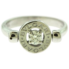 Bvlgari Bvlgari 18 Karat White Gold Diamond Flip Ring