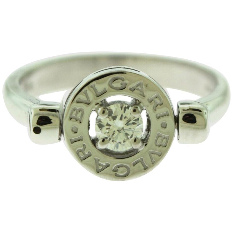 Bvlgari Bvlgari 18 Karat White Gold Diamond Flip Ring