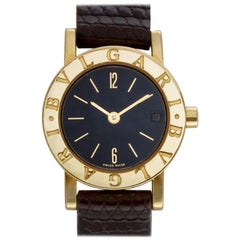 Bvlgari Bvlgari BB23GLD, Black Dial, Certified and Warranty