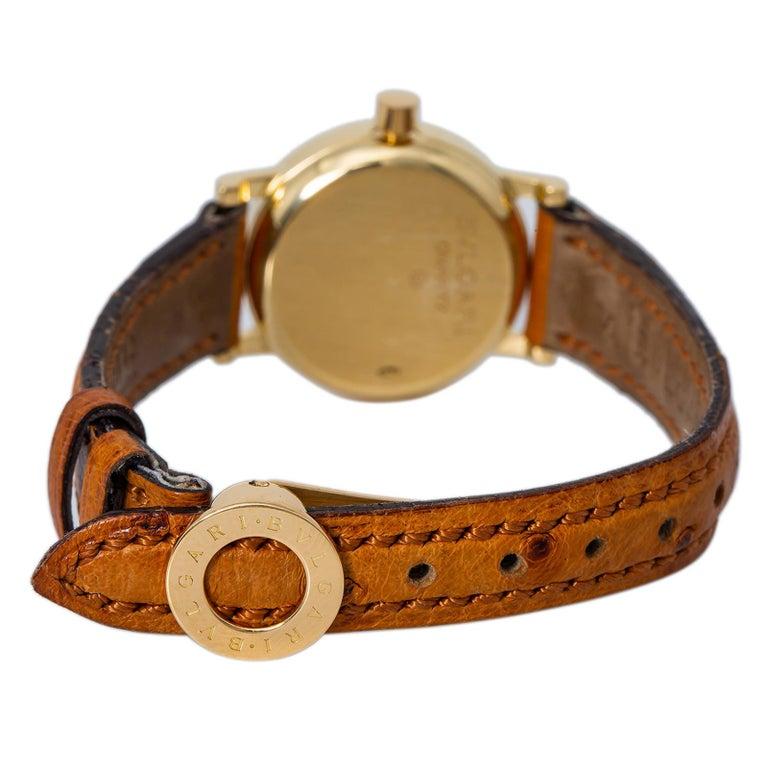 Bvlgari Bvlgari BB23L Quartz Ladies 18k Yellow Gold Watch Black Dial 23MM