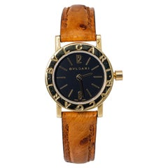 Bvlgari Bvlgari BB23L Quartz Ladies 18k Yellow Gold Watch Black Dial