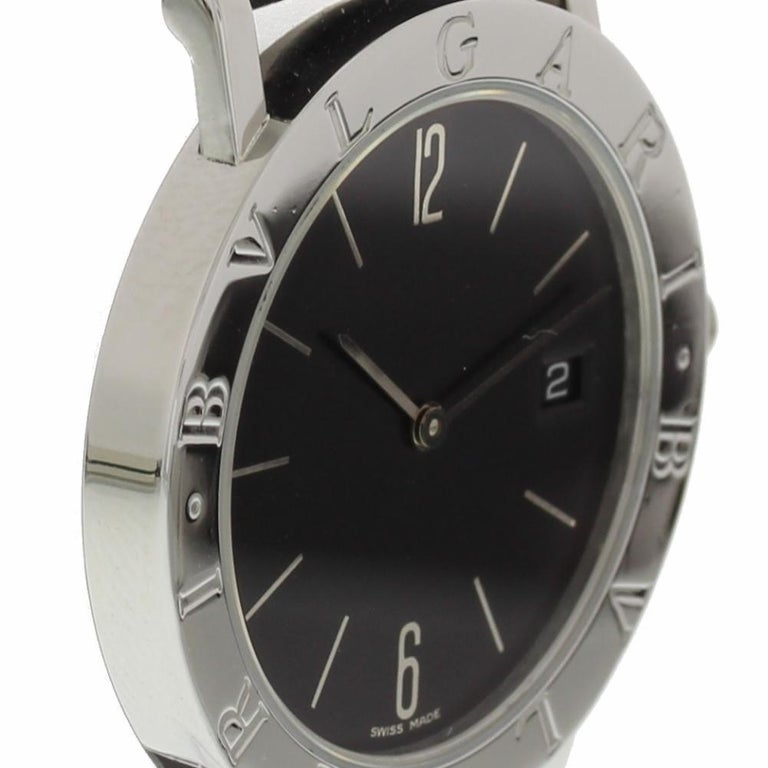 official photos 17b4a 04407 Bvlgari Bvlgari BB33SLD with Band, Stainless-Steel Bezel and Black Dial