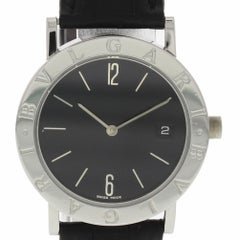 Bvlgari Bvlgari BB33SLD with Band, Stainless-Steel Bezel and Black Dial