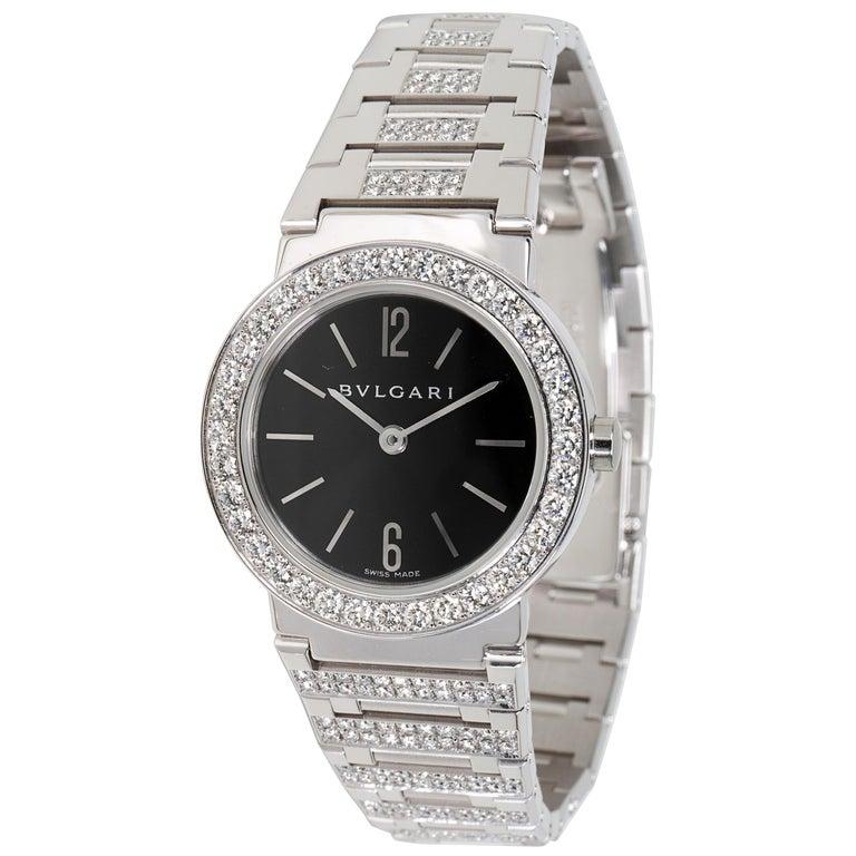 Bvlgari Bvlgari BBW26BGDGD Women's Diamond Watch in 18kt White Gold 2.12 Carat For Sale