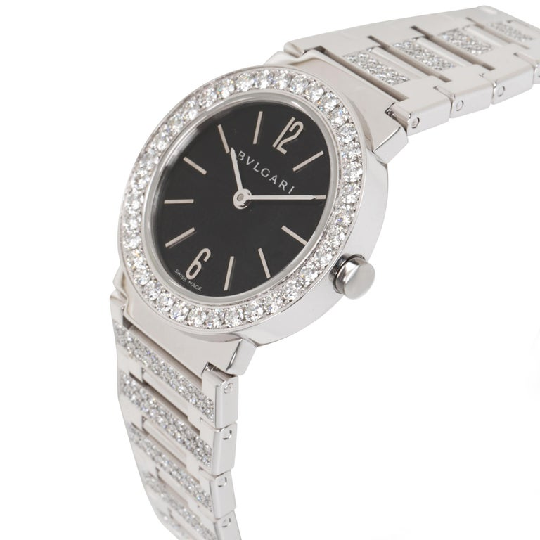 Bvlgari Bvlgari BBW26BGDGD Women's Diamond Watch in 18kt White Gold 2.12 Carat In Excellent Condition For Sale In New York, NY