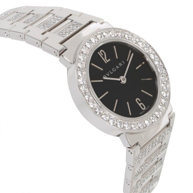 Bvlgari Bvlgari BBW26BGDGD Women's Diamond Watch in 18kt White Gold 2.12 Carat For Sale 1