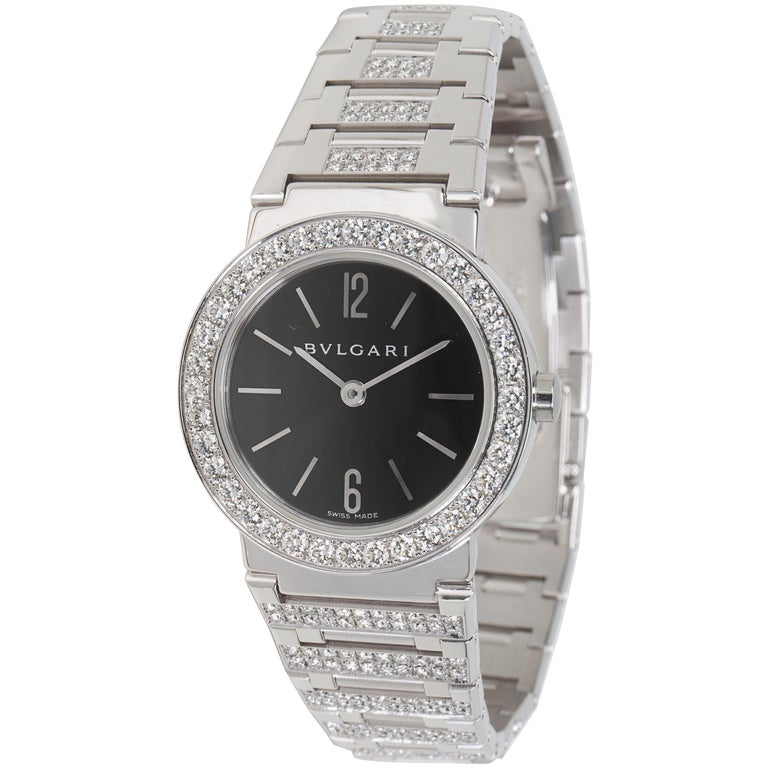 Bvlgari Bvlgari BBW26BGDGD Women's Diamond Watch in 18kt White Gold 2.12 CTW For Sale