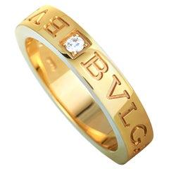 "Bvlgari ""BVLGARI BVLGARI"" 18 Karat Yellow Gold Diamond Ring"