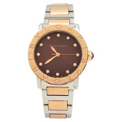 Bvlgari Bvlgari-Bvlgari Rose Gold and Stainless Steel Ladies Watch