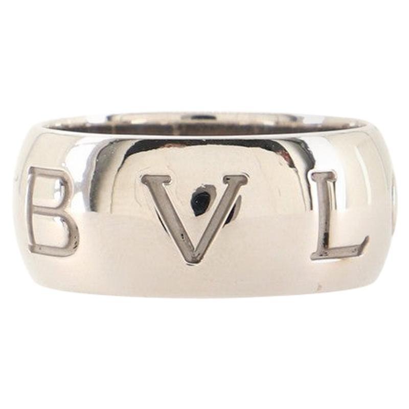 Bvlgari Bvlgari Monologo Band 18K White Gold Ring
