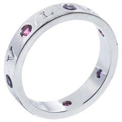 Bvlgari Bvlgari Multicolor Gemstone Diamond 18K White Gold Band Ring 65