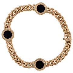 Bvlgari Bvlgari Onyx Curb Link 18 Karat Yellow Gold Vintage Bracelet Reversible
