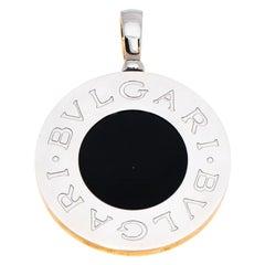 Bvlgari Bvlgari Onyx Mother of Pearl 18K Yellow Gold Reversible Large Pendant