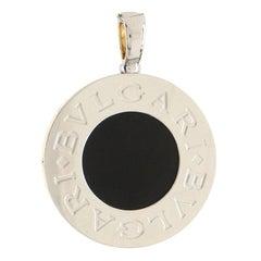 Bvlgari Bvlgari Reversible Circle Pendant Necklace 18k Yellow Gold and Stainless