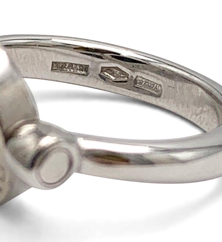 Women's Bvlgari Bvlgari White Gold Diamond and Onyx Flip Ring For Sale