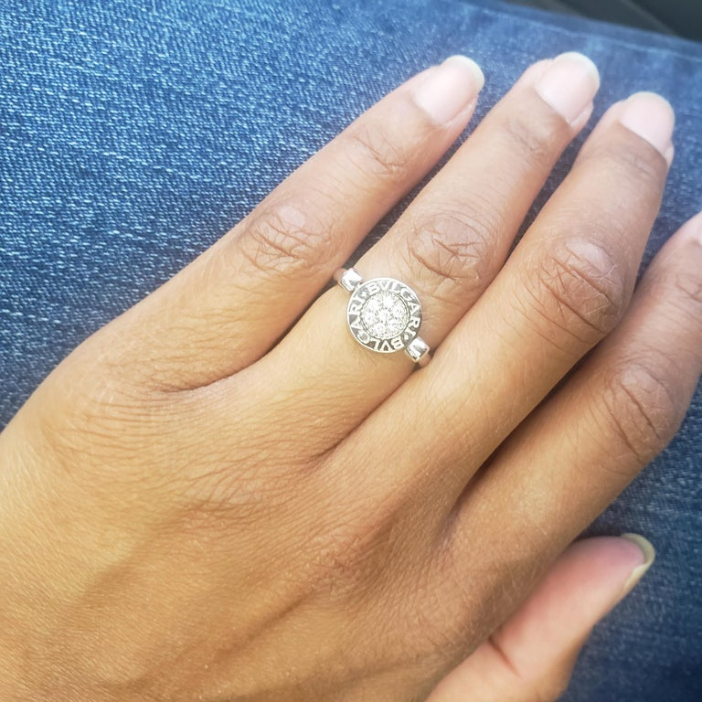 Bvlgari Bvlgari White Gold Diamond and Onyx Flip Ring For Sale 1