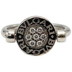 Bvlgari Bvlgari White Gold Diamond and Onyx Flip Ring