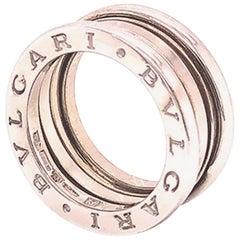 Bvlgari B.Zero 1 18 Karat White Gold 3 Band Ring