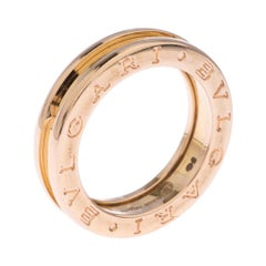 Bvlgari B.Zero 1 18K Rose Gold One Band Ring Size 51
