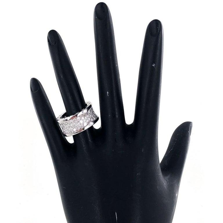 Bvlgari B.Zero 1 Diamond Band 18 Karat White Gold Band Ring For Sale 1