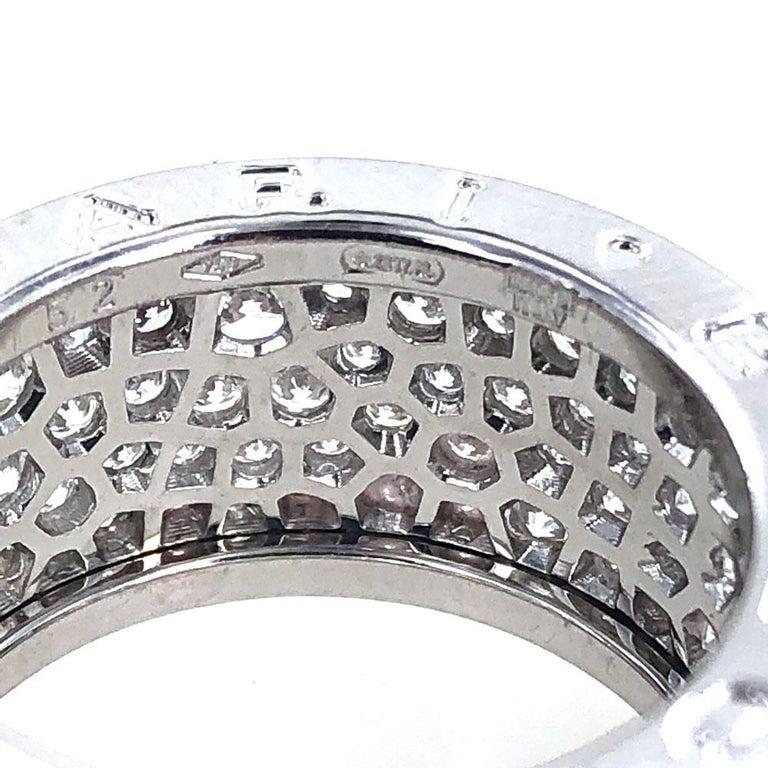 Bvlgari B.Zero 1 Diamond Band 18 Karat White Gold Band Ring For Sale 2