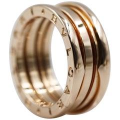 Bvlgari B.Zero 18 Karat Rose Gold 3 Band Ring