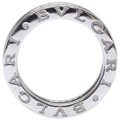 Bvlgari B.Zero One Row Diamond Band Ring in 18 Karat White Gold 0.60 Carat