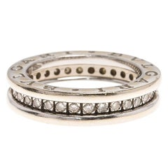 Bvlgari B.Zero1 1-Band Diamond White Gold Band Ring Size 48