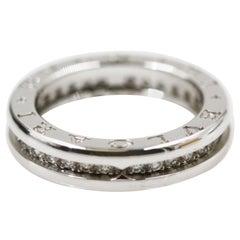 Bvlgari B.Zero1 18 Karat White Gold Diamond Ring
