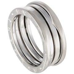 Bvlgari B.Zero1 18 Karat White Gold Three-Band Ring
