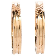 Bvlgari B.Zero1 18K Rose Gold Hoop Earrings