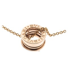 Bvlgari B.Zero1 18k Rose Gold Pendant Necklace