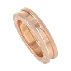 Bvlgari B.Zero1 18k Rose Gold Single Band Ring
