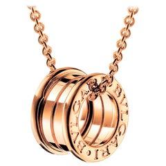 Bvlgari B.Zero1 18k Rose Gold Two Row Pendant Necklace