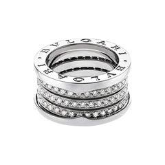 Bvlgari B.Zero1 18K White Gold & Diamond Ring