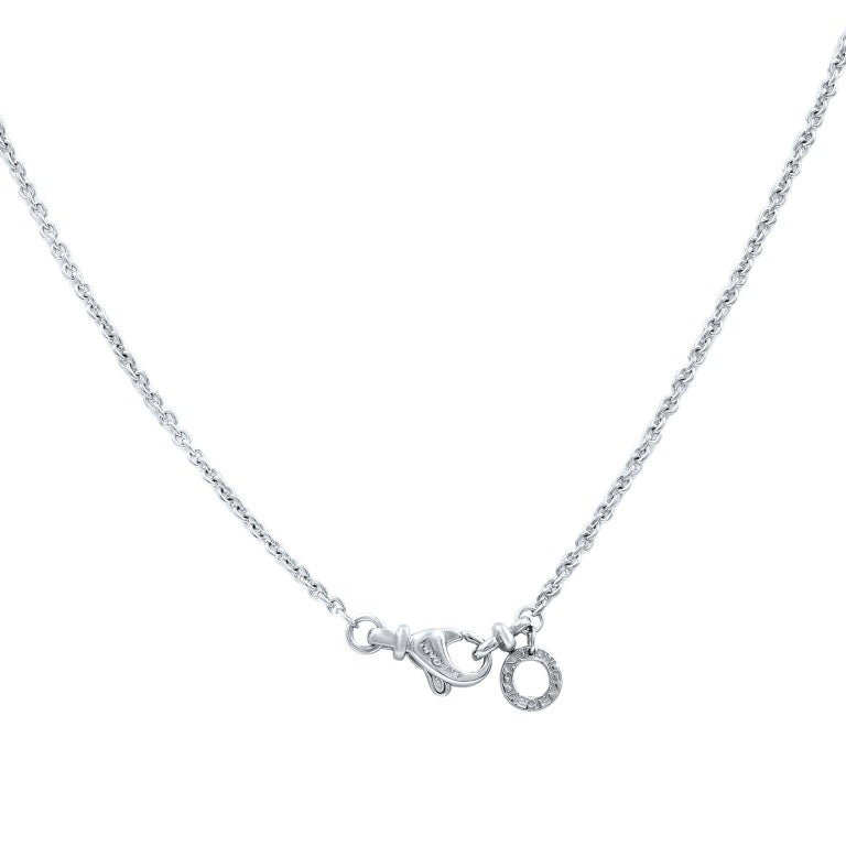 Bvlgari B.Zero1 18 Karat White Gold Pendant Necklace In Excellent Condition For Sale In New York, NY
