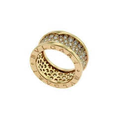 Bvlgari B.zero1 Diamond Pave Rose Gold Band Ring