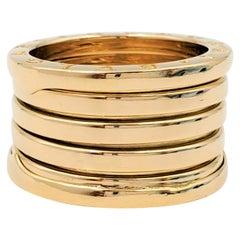 Bvlgari B.zero1 Five-Band Yellow Gold Ring