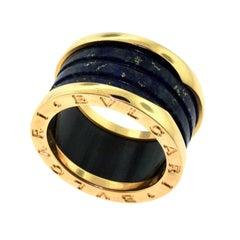Bvlgari B.zero1 Lapis Lazuli Four, Band Rose Gold Ring