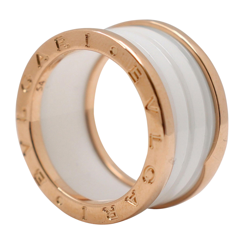 Bvlgari B.Zero1 Rose Gold and Ceramic Ring