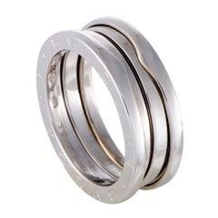 Bvlgari B.Zero1 Womens 18 Karat White Gold 3-Band Ring