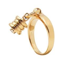 Bvlgari B.zero1 Yellow Gold and Diamond Ring