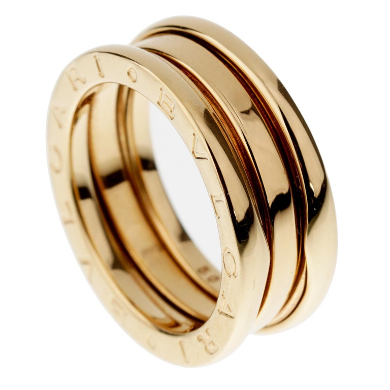Bvlgari Bzero1 Yellow Gold Band Ring In Excellent Condition For Sale In Feasterville, PA