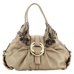 Bvlgari Chandra Hobo Beaded Leather Large