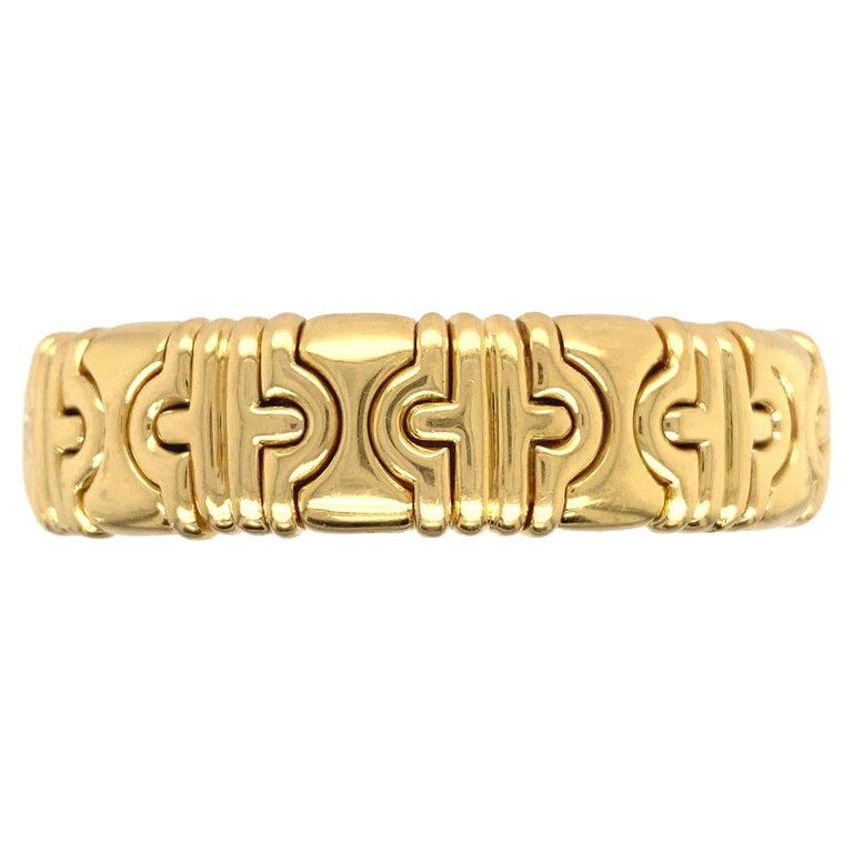 Bvlgari Classic Parentesi 18k Yellow Gold Bracelet For Sale