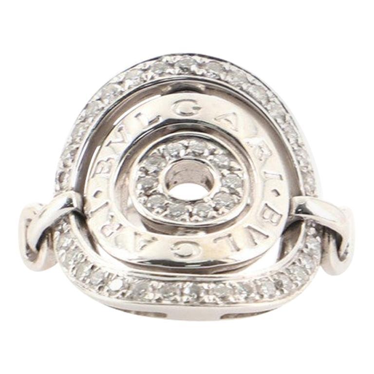 Bvlgari Concentrica Ring 18K White Gold with Diamonds