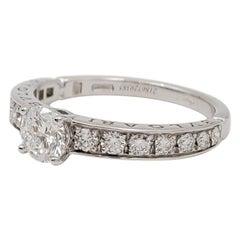 Bvlgari 'Dedicata a Venizia' Platinum Diamond Engagement Ring